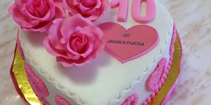 розовая свадьба торт