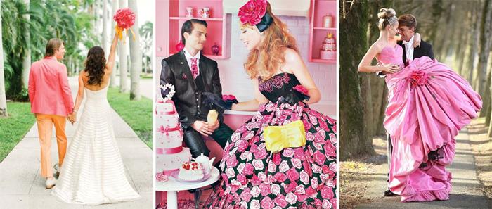 розовая свадьба фотосессия