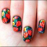 цветы маникюр